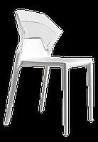 Стул Papatya Ego-S белое сиденье, верх прозрачно-чистый, фото 1
