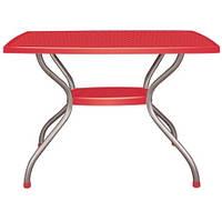 Стол Irak Plastik Vega 70x100 красный