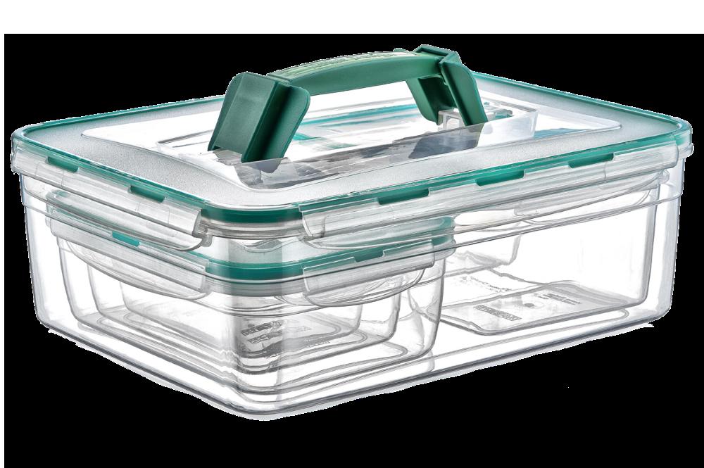 Набор контейнеров KOMBI SET с ручкой, общий обьем 9,5 л