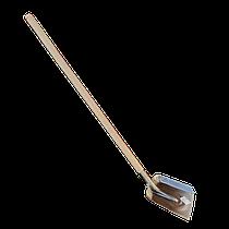 Лопата совковая (молотковое покрытие) с черенком