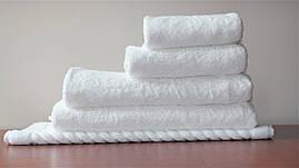 Махровое полотенце белое для рук и лица, 40*70 см