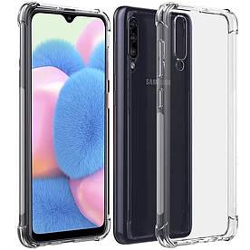 Чехол для Samsung Galaxy A01 A015 силиконовый с усиленными углами, Прозрачный