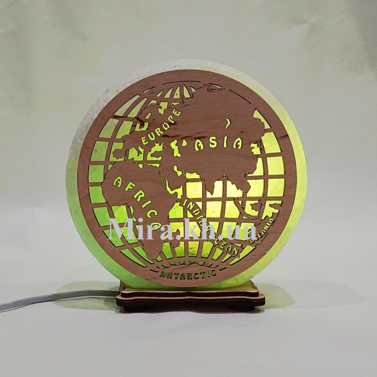 Соляной светильник круглый Глобус