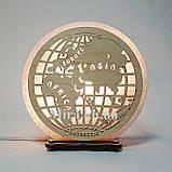Соляной светильник круглый Глобус, фото 6