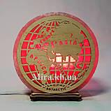 Соляной светильник круглый Глобус, фото 2