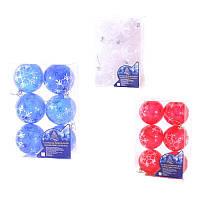 8473 Елочные шарики 8см 6шт/кор (48уп), заготовки для декупажа,декупаж,декор,материалы для декорирования