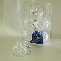8587 Елочные шарики прозрачные 8см 6шт/кор (64кор), заготовки для декупажа,декупаж,декор,материалы для