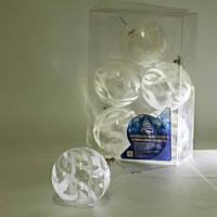 8589 Елочные шарики прозрачные 8см 6шт/кор (64кор), заготовки для декупажа,декупаж,декор,материалы для
