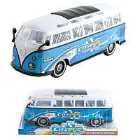 Автобус инерц. в слюде, Машина игрушечная пластиковая,Инерционные модели игрушек,Детские пожарные машины без