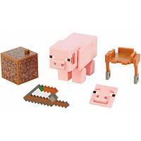 Minecraft Comic Майнкрафт Фигурка свинка GGP94 Maker Pig Action Figure