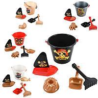Пісочний набір Веселий Роджер сет, песочные наборы,игрушки в песочницу,наборы в песочницу,детская лейка