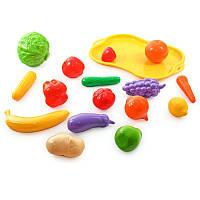 Набор фруктов и овощей на тачке в сетке, игрушки для девочек,детская бытовая техника,дитяча посудка,іграшки