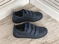 Кожаные туфли для мальчика 10 син размеры 31-40, фото 1