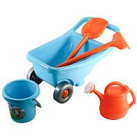 Наб садівника тачка, песочные наборы,игрушки в песочницу,наборы в песочницу,детская лейка