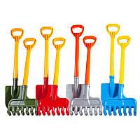 Лопатка+грабли, песочные наборы,игрушки в песочницу,наборы в песочницу,детская лейка