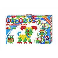 Мозайка-пазлы Пчелка100 дет, Мозаика для самых маленьких,Игра мозаика для детей,Мозаика детская,Напольная