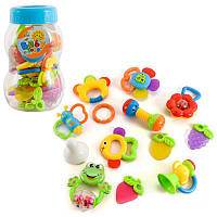 Набор погремушек в колбе, неваляшки,погремушки,игрушки для малышей,товары для новорожденных