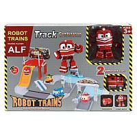 """Паркинг """"Робот Поезд"""" + трансформер Alf, трек,паркинг,игрушки для мальчиков,автотрек"""