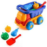 Детский набор: машинка, лопатка, три пасочки, машинка,детские машинки