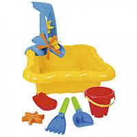 Набор для песка и воды с мельницей 7 эл. (Желтый) 39698, игрушки в песочницу,игрушки для улицы,игрушки для