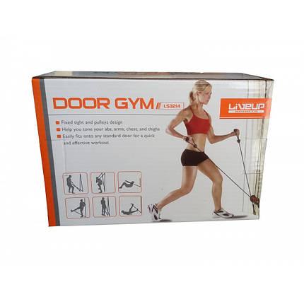 Универсальный тренажер LiveUp Door Gym Black+Orange (LS3214), фото 2