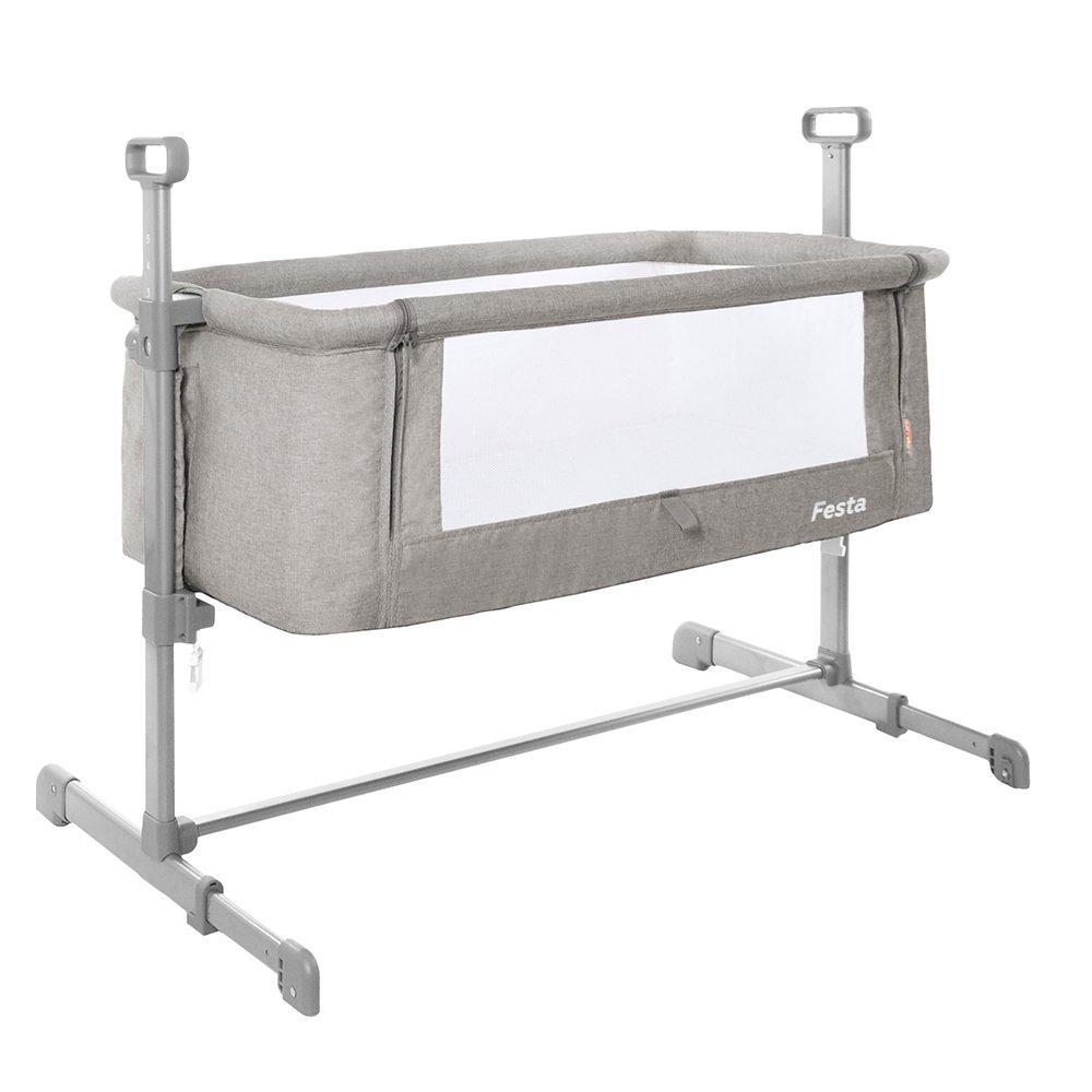 Детское приставная Кровать Carrello Festa Neutral Grey (CRL-8401)