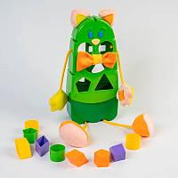 """Игрушка развивающая сортер """"Котик"""" 39290 (Зелёный), игрушки для малышей,сотер,деревянные игрушки,самых"""