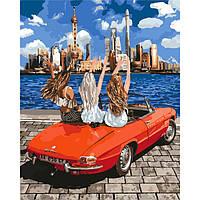 "Картина по номерам ""Девочки-подружки"" 40*50см KHO4712, картины по номерам,раскраски с номерами,рисование по"