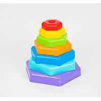 """Игрушка развивающая """"Пирамидка-радуга"""" в коробке 39363, игрушки для малышей,сотер,деревянные игрушки,самых"""