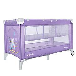 Дитячий манеж-ліжко з другим дном Carrello Piccolo + CRL-9201/2 Orchid Purple