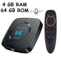 Медиаплеер Android 9.0 Smart TV Box H616 4/64ГБ Transpeed T98 6K+Air Mouse