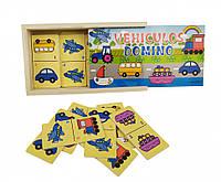Деревянная игрушка Домино MD 2198 (Транспорт), деревянные игрушки,деревянные игрушки развивающие,интерактивная