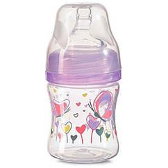 Антиколикова бутылочка с широким горлом BabyOno 402, 120 мл Сиреневый