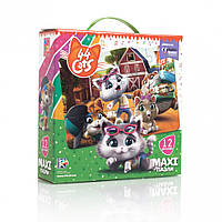 """Игра настольная """"Макси пазлы. 44 Cats"""" VT1722-01, детские развивающие настольные игры,игрушки для"""