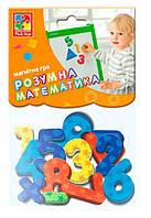 """Магнитная игра """"Цифры и математические знаки"""" VT5900-01 (укр), детские развивающие настольные игры,детская"""