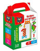 Цифры и фигуры на кольце VT5000-06 (укр), детские развивающие настольные игры,игрушки для малышей,детская