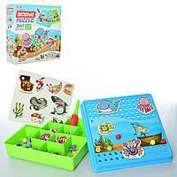 Мозаика на шурупах с отверткой TLH-0 (Морские животные), мозаика для детей,мозаика детская,игрушки для