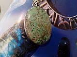 Бірюза кулон з натуральної бірюзою в сріблі Індія, фото 5