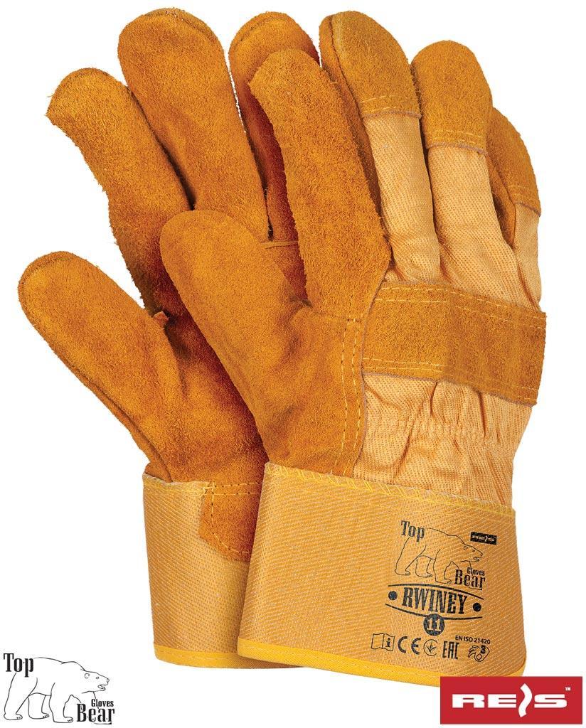 Защитные рукавицы укрепленные воловьей кожей, утепленные вкладышем Thinsulate RWINEY YH