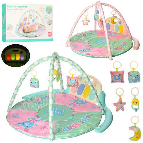 Детский развивающий коврик для младенца Bambi Baby's Piano Gym Mat (9906)