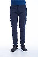 Мужские брюки карго темно-синие