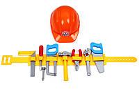 Инструменты с каской на поясе ТЕХНОК, набор инструментов детских,игрушки для мальчиков