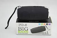 Портативная аудио колонка Bluetooth FD3 Black