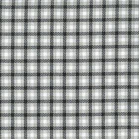 Ткань для мебели, жаккард в мелкую клетку Эдинбург (Edinburgh) бело-серого цвета