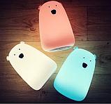 Силиконовый ночник «Мишка белый» 7 цветов 3DTOYSLAMP, фото 5