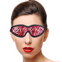 Эротическая женская маска на глаза   Красный ( 190 013 )