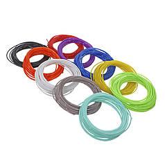 Набір PLA-пластика нитка для 3D-ручки Kaiyiyuan 100 метрів (10 Кольорів по 10 м)