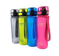 Бутылка для воды в школу Uzspace Colorful Frosted-Tritan 500 мл original (4 цвета)