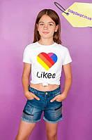 """Футболка для девочки """"Tik Tok"""", """"Likee"""", фото 1"""