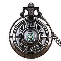 Часы карманные с компасом